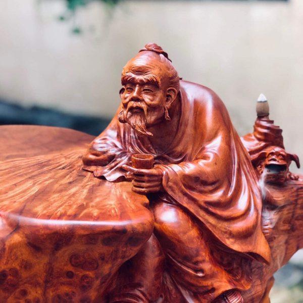 Tượng Thần Trà Gỗ Nu Hương siêu vip.